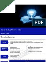 Power Backup Market in India 2014 - Sample