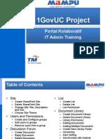 1GovUC Portal Kolaboratif ITAdmin Training v1.6