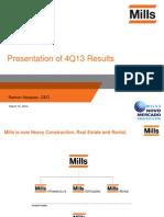 4Q13 Presentation of Results