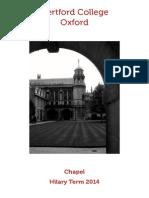 HT2014 Chapel Card