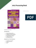 Ceramics Processing Book