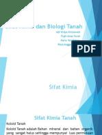 Sifat Kimia & Sifat Biologi Tanah