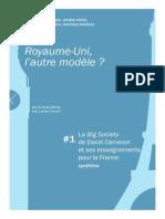 Royaume-Uni, l'autre modèle ? La Big Society et ses enseignements pour la France - #1 Synthèse