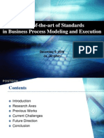 State-Of-The-Art of Standards in Business Process Modeling and Execution