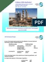 Development Status of BGL-Gasification
