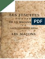 1788 - Les Jésuites Chassés de la Maçonnerie  - 1er Partie (BONEVILLE, Nicholas)