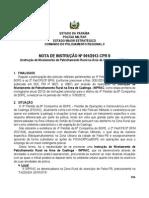 NOTA DE INSTRUÇÃO CPR2 patrulha rural