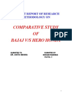 6521964 Summer Training Report on Bajaj vs Hero Honda