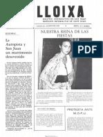LLOIXA. Número 38, agosto/agost 1984. Butlletí informatiu de Sant Joan. Boletín informativo de Sant Joan. Autor