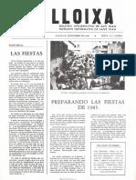 LLOIXA. Número 39,septiembre/setembre 1984. Butlletí informatiu de Sant Joan. Boletín informativo de Sant Joan. Autor