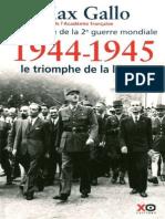 1944 1945 Le Tiomphe de La Liberte
