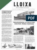 LLOIXA. Número 41, noviembre/novembre 1984. Butlletí informatiu de Sant Joan. Boletín informativo de Sant Joan. Autor