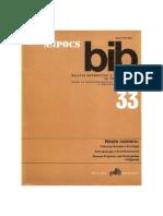 boletim informativo e bibliográfico das ciencias sociais n33