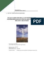 Evaluación Técnica y Económica del Generador Eólico de Cerro Caracoles