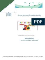 Jaarverslag WWJB 2013