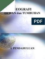 Geografi Hewan Tumbuhan dan hewan