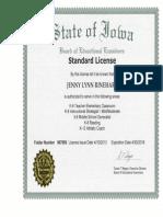 teaching license jrinehart
