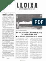 LLOIXA. Número 45, marzo/març 1985. Butlletí informatiu de Sant Joan. Boletín informativo de Sant Joan. Autor