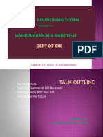 PPT on GPS system with its applications and technologies