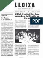 LLOIXA. Número 46, abril/abril 1985. Butlletí informatiu de Sant Joan. Boletín informativo de Sant Joan. Autor