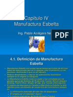 SP2 CAPITULO IV La Manufactura Esbelta