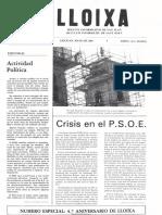 LLOIXA. Número 47, mayo/maig 1985. Butlletí informatiu de Sant Joan. Boletín informativo de Sant Joan. Autor