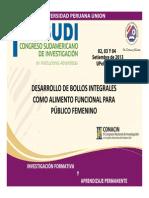 DESARROLLO DE BOLLOS INTEGRALES COMO ALIMENTO FUNCIONAL PARA PÚBLICO FEMENINO.