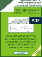 Cirsoc 101-05 - Cargas Permanentes y Sobrecargas de Diseño