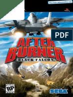 After Burner - Black Falcon - Manual - PSP