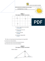 Matemática 5º ano Posição relativa de rectas e triângulos