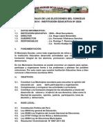 Plan DeTrabajo de Las Elecciones Del Concejo Escolar 2014