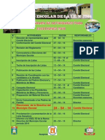 Cronograma de Actividades Para Elecciones de Municipio Escolar Del i.e. 2024 - 2014