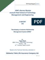 TIP Final Report Mba.tech (IT) 136