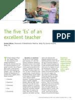 The Five E's of an Excellent Teacher