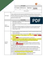 Manager Mechanical Execution Job Description