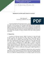 Brogaard - Primitive Knowledge Disjunctivism