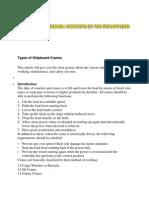 Types of Shipboard Cranes