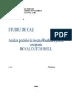 Analiza Gradului de Internationalizare Pentru Compania Royal Dutch Shell