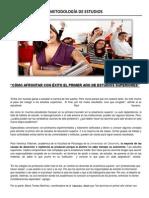 METODOLOGÍA DE ESTUDIOS- CÓMO AFRONTAR CON ÉXITO LOS ESTUDIOS