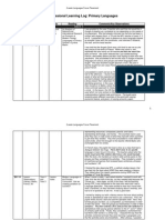 languages focus placement - pro forma learning log