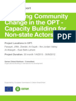 Fostering Community Change in the Occupied Palestinian Territories