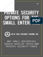 Private Security Options for the Small Enterprise