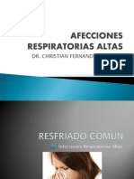 Cuidados I - Clase 3-A - Infecciones Respiratorias Altas