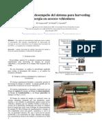 evaluación del desempeño del sistema para harvesting de energía en accesos vehiculares