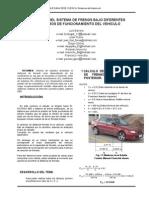 INFLUENCIA DEL SISTEMA DE FRENOS BAJO DIFERENTES PARÁMETROS DE FUNCIONAMIENTO DEL VEHICULO-(DISTANCIA DE FENADO)