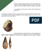 Las herramientas del hombre prehistórico