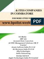 Coimbatore BPO List