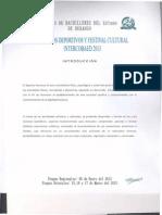 Convocatoria Cultural y Deportiva 20130001-1