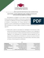 Resolución de proclamación provisional de candidaturas