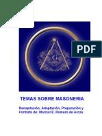 Temas sobre Masonería (Recopilación, Adaptación, Preparación y Formato de Marcial Romero de Arcas